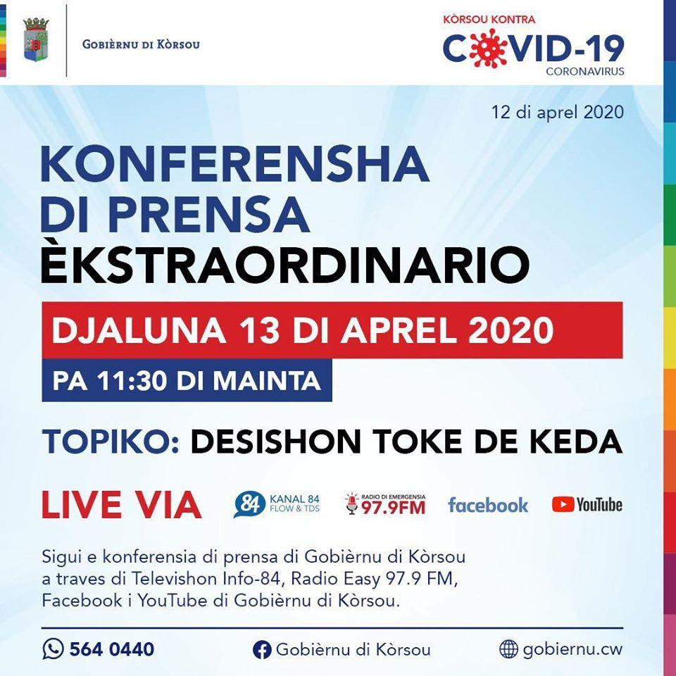 13 di aprel - Konferensha di Prensa èkstraordinario